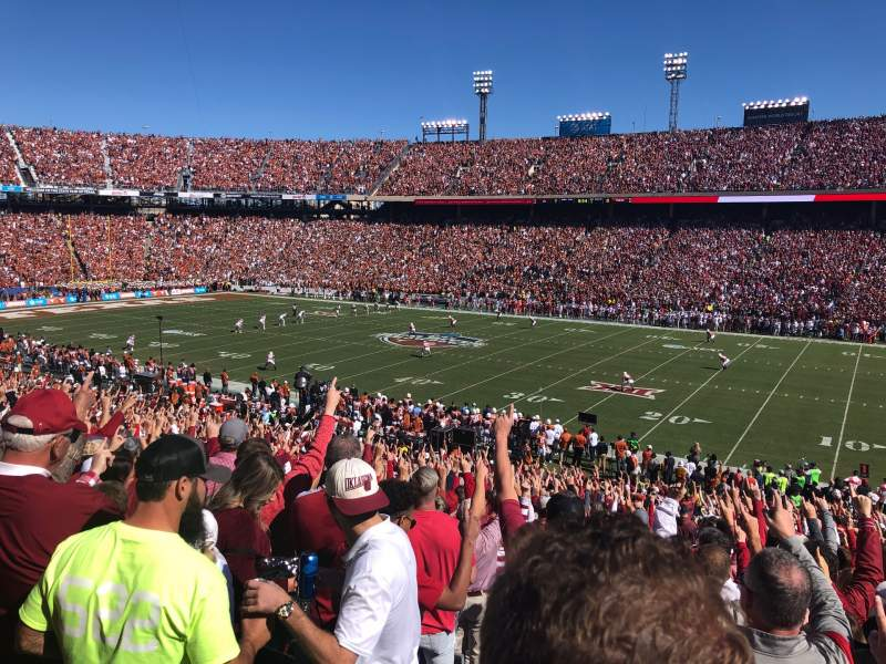 Seating view for Cotton Bowl Section 3 Row 40 Seat 28