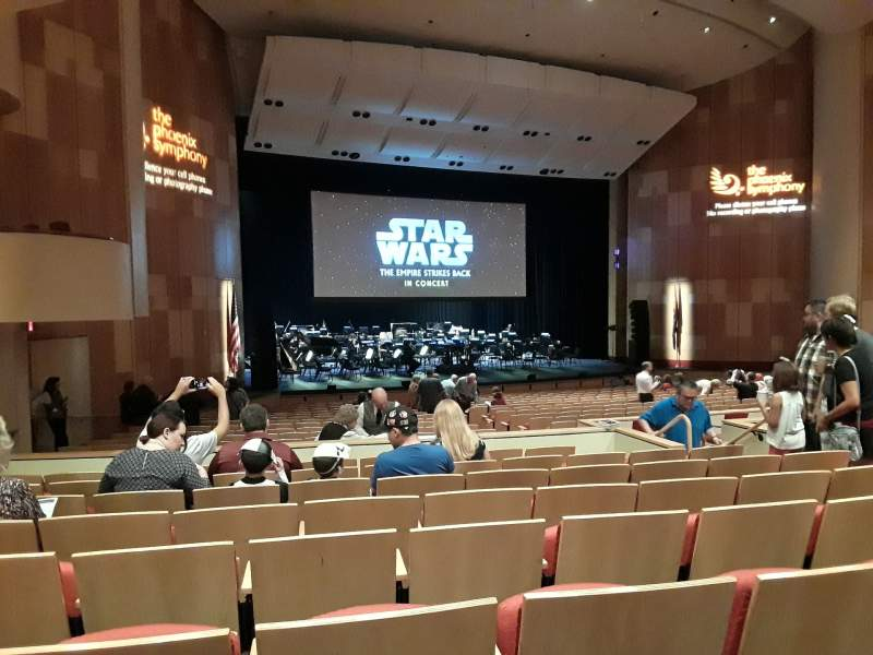 Seating view for Phoenix Symphony Hall Section C Row 24 Seat 9