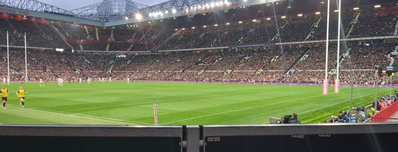 Seating view for Old Trafford Section E132 Row L3A Seat 37