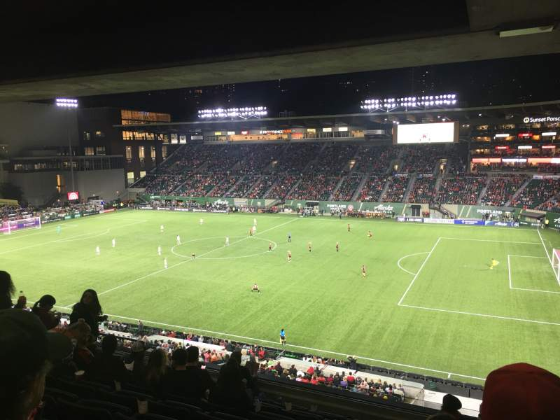 Seating view for Providence Park Section TR Row H Seat 10