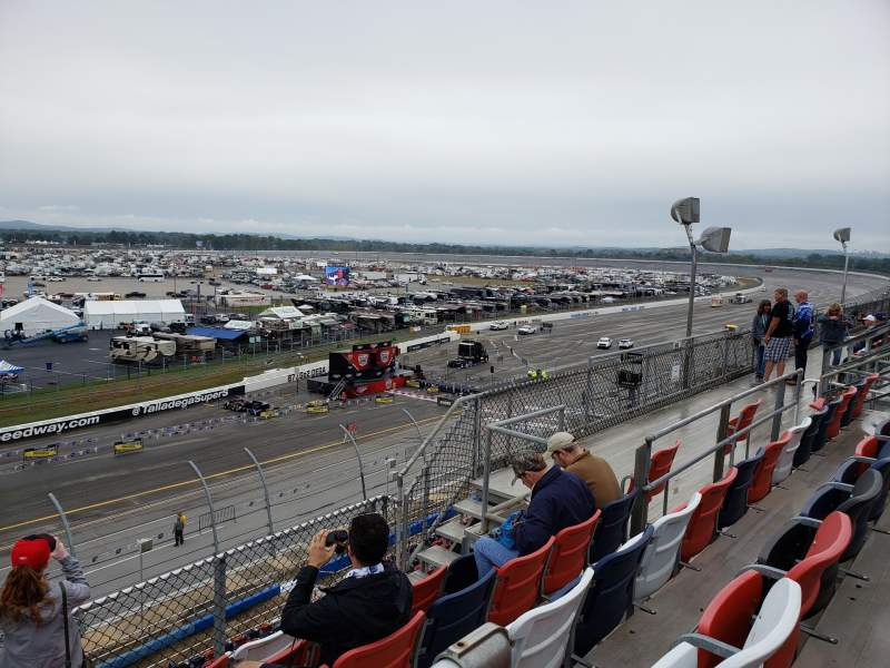 Seating view for Talladega Superspeedway Section F Row 31 Seat 2