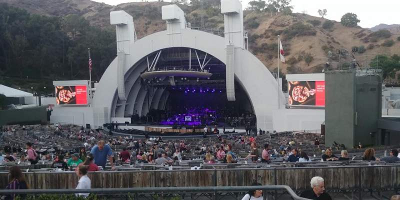 Seating view for Hollywood Bowl Section F1 Row 5 Seat 5