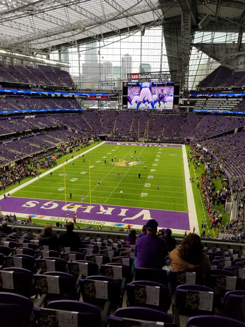 Seating view for U.S. Bank Stadium Section 222 Row 12 Seat 8