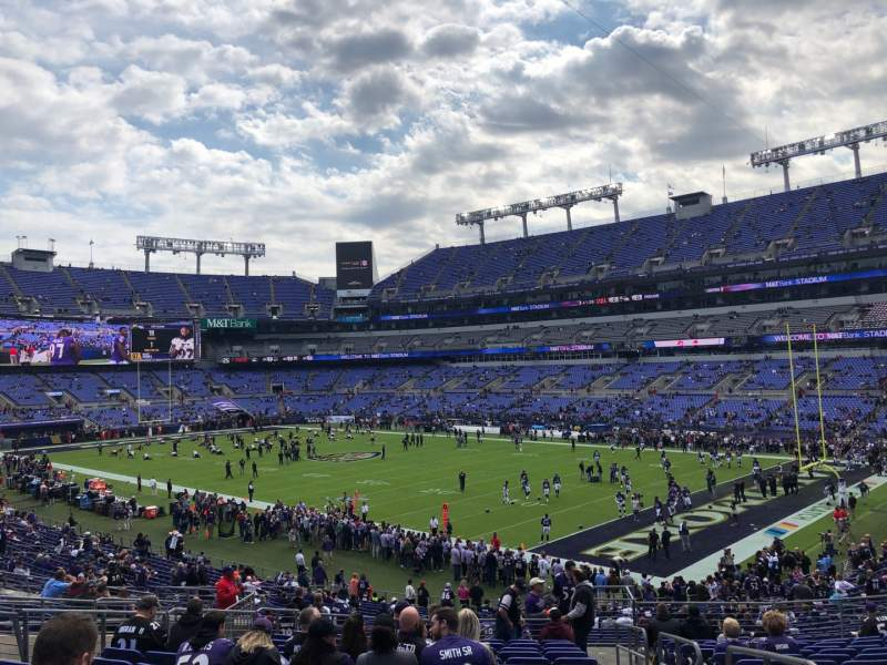 Seating view for M&T Bank Stadium Section 147 Row 35 Seat 1
