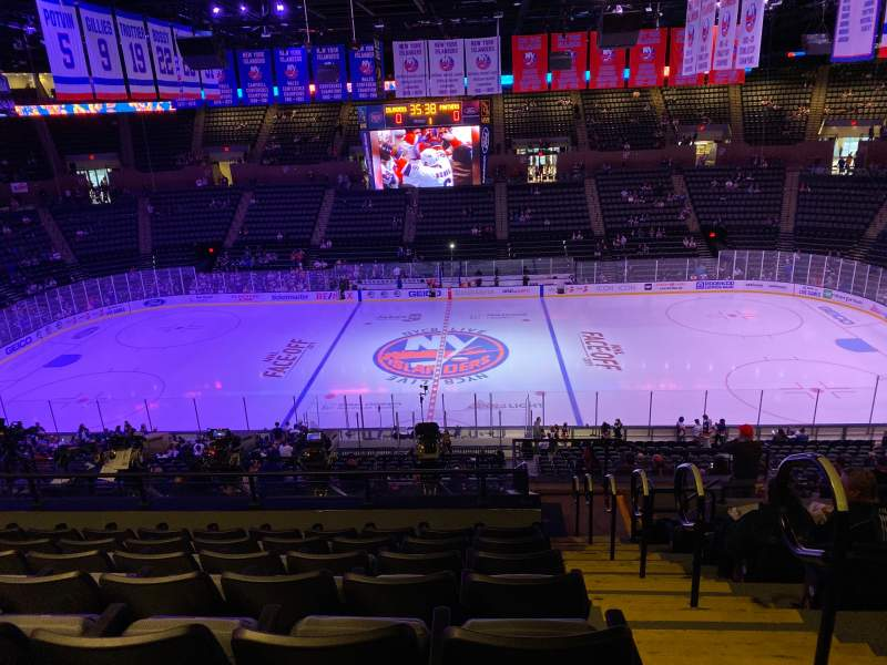 Seating view for Nassau Veterans Memorial Coliseum Section 203 Row 11 Seat 1
