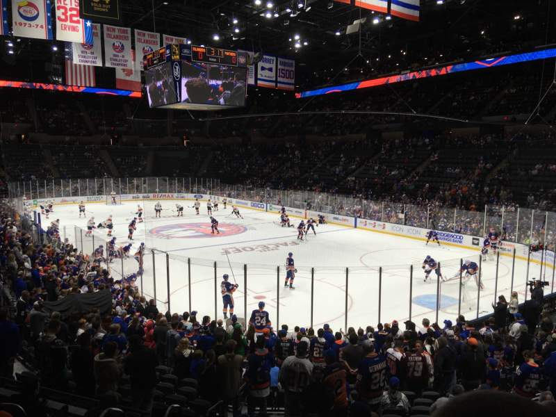Seating view for Nassau Veterans Memorial Coliseum Section 112 Row 7 Seat 13