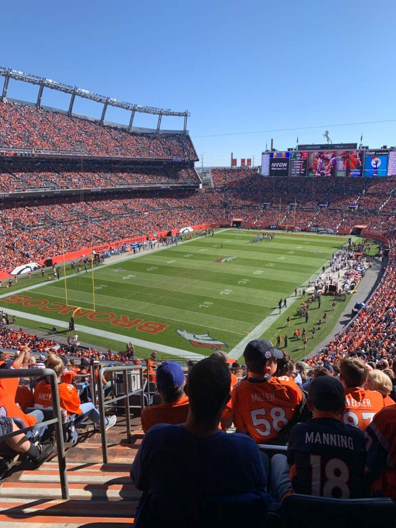 Seating view for Empower Field at Mile High Stadium Section 319 Row 16 Seat 22
