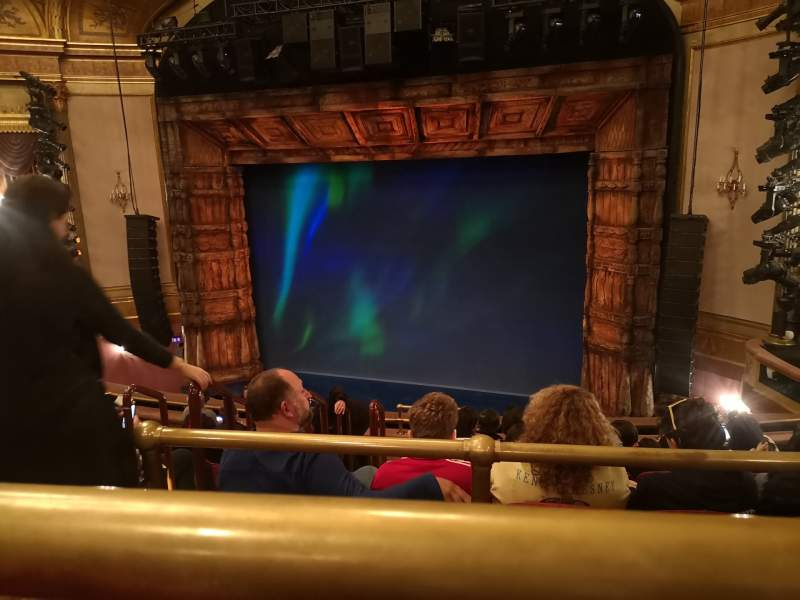 Seating view for St. James Theatre Section Mezzanine R Row J Seat 8