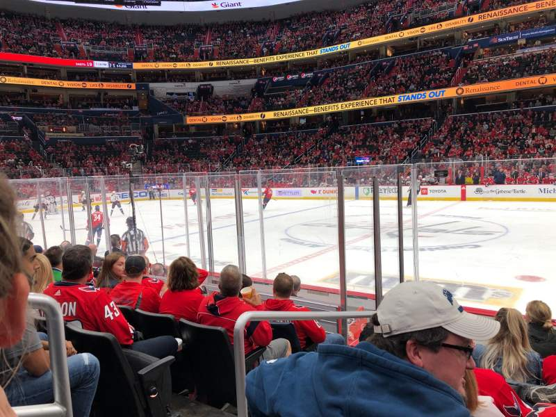 Seating view for Capital One Arena Section 112 Row G Seat 2