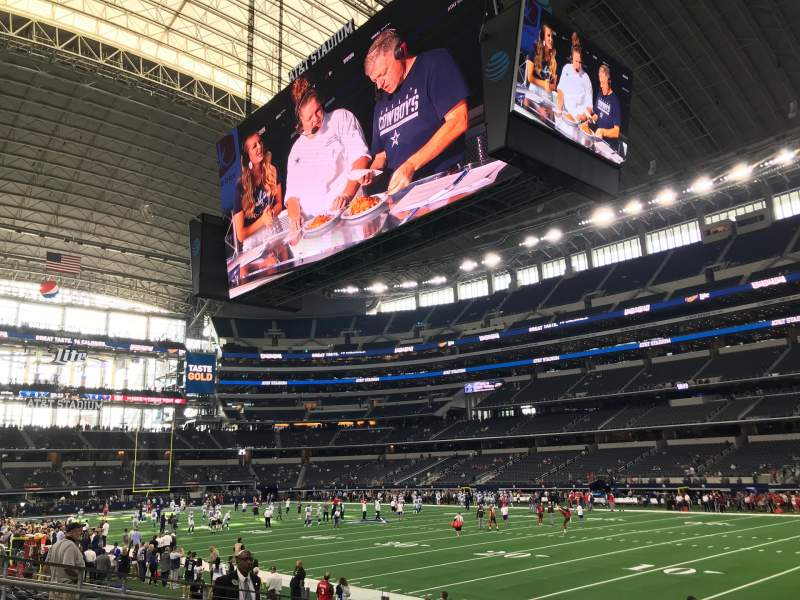 Seating view for AT&T Stadium Section 103 Row 8 Seat 9