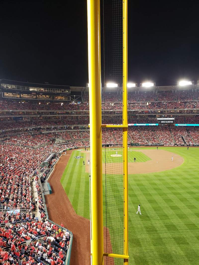Seating view for Nationals Park Section 234 Row A Seat 14