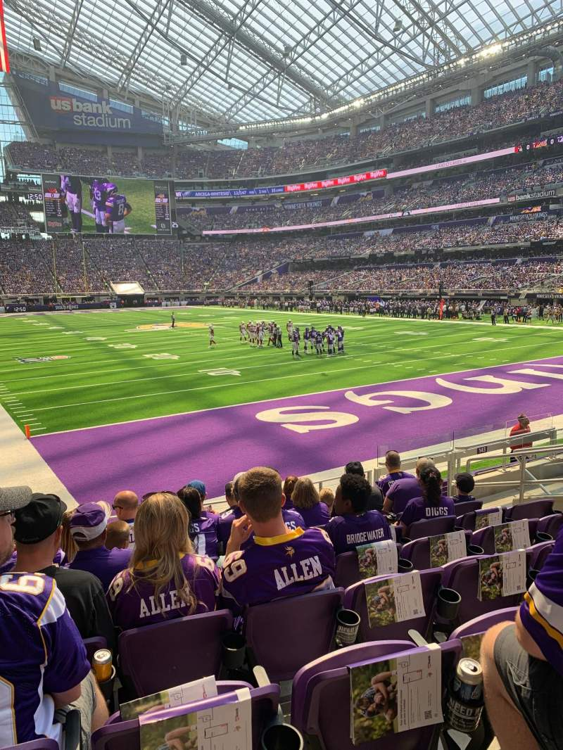 Seating view for U.S. Bank Stadium Section 143 Row 9 Seat 9