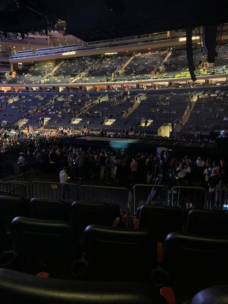 Seating view for Madison Square Garden Section 109 Row 8 Seat 12