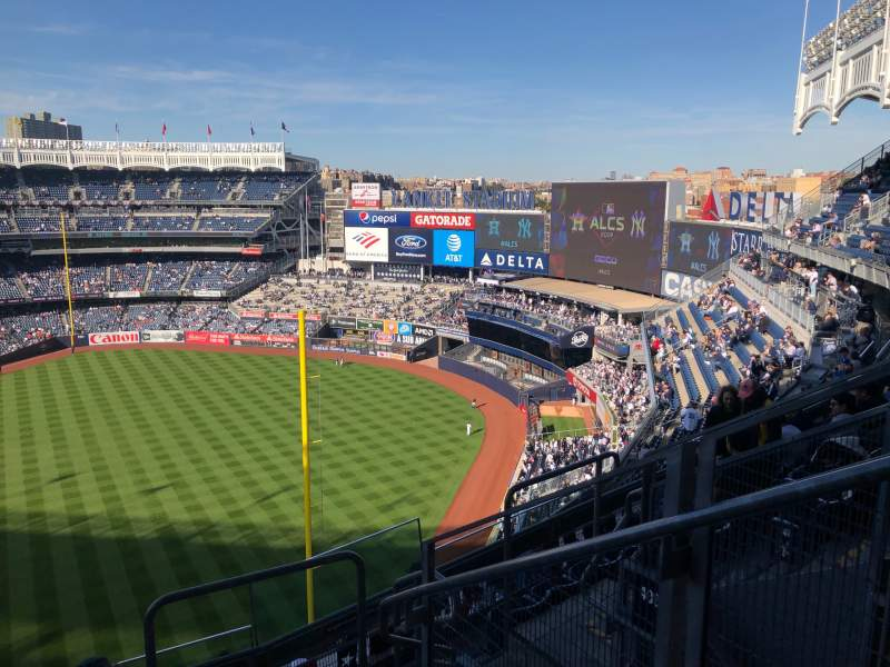 Seating view for Yankee Stadium Section 409 Row 6 Seat 2