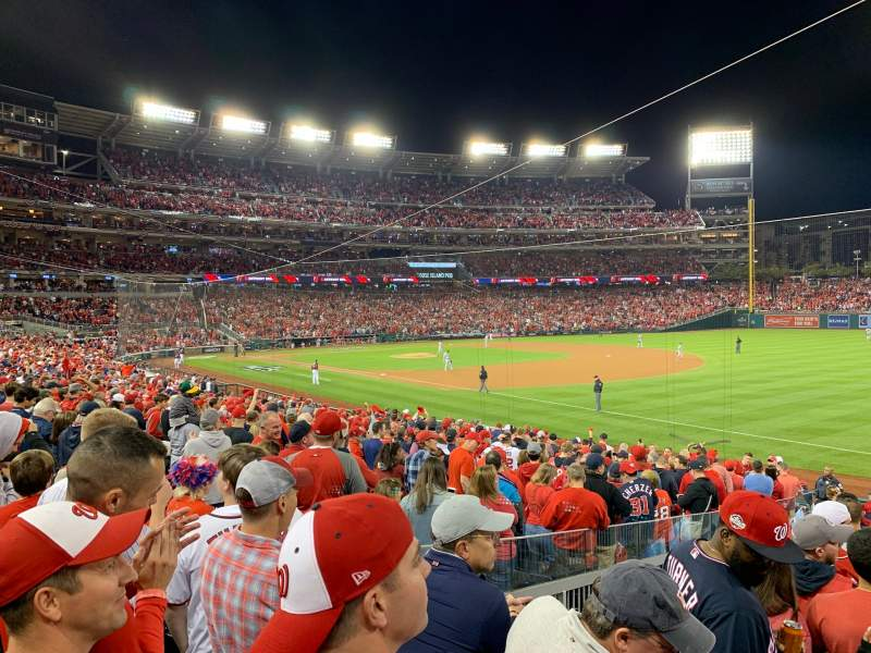 Seating view for Nationals Park Section 134 Row AA Seat 12
