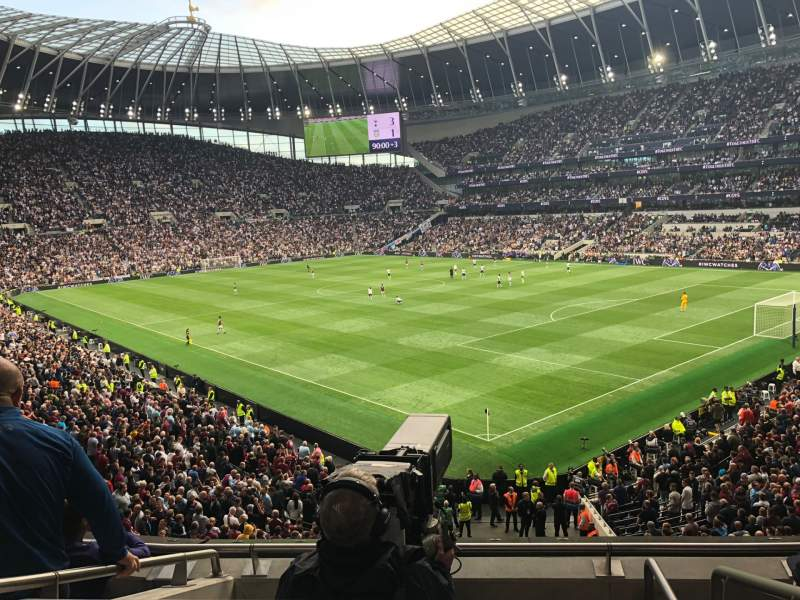 Seating view for Tottenham Hotspur Stadium Section 424 Row 4 Seat 500
