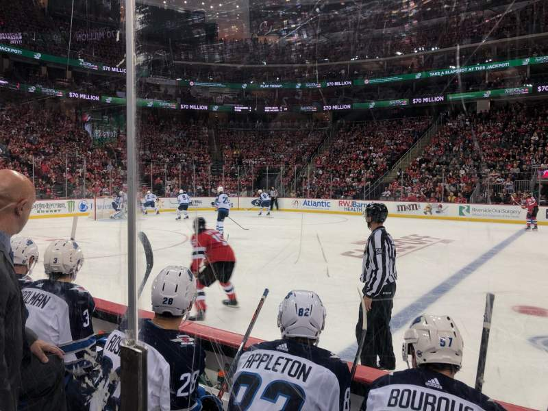 Seating view for Prudential Center Section 19 Row 3