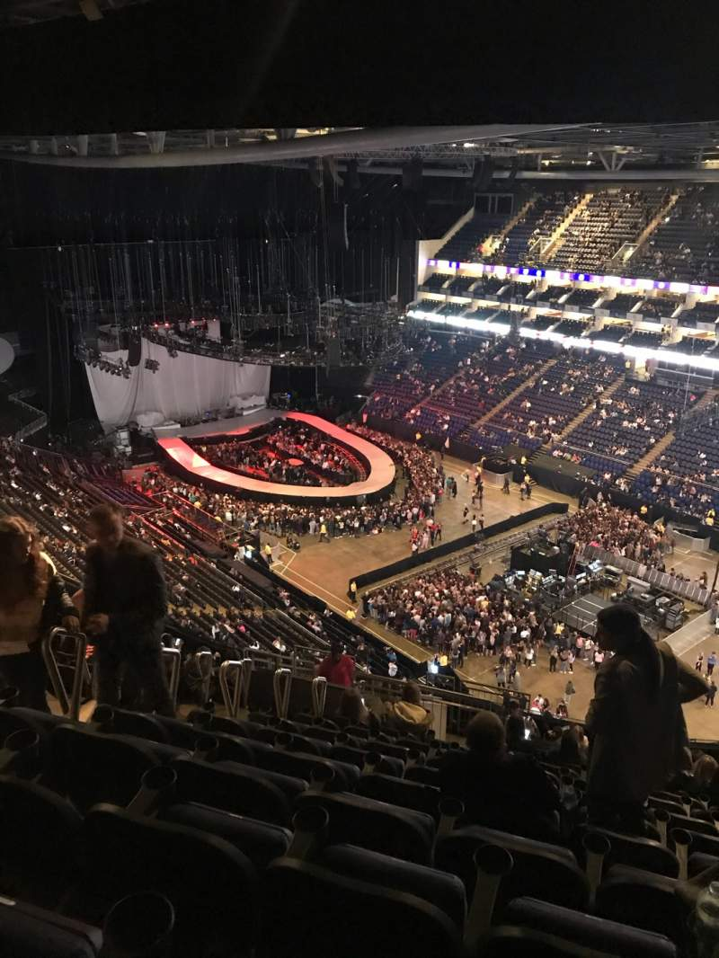 Seating view for The O2 Arena Section 407 Row R Seat 618