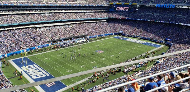 Seating view for MetLife Stadium Section 344 Row 5 Seat 13