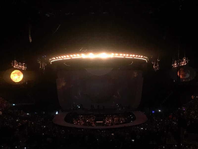 Seating view for The O2 Arena Section 107 Row X  Seat 203