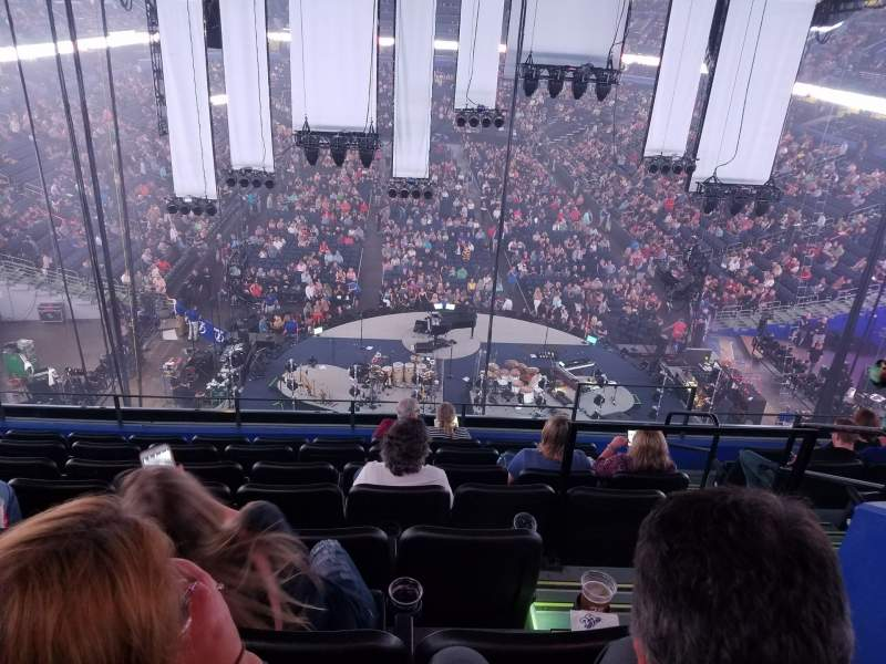 Seating view for Amalie Arena Section Club 5 Row H Seat 2