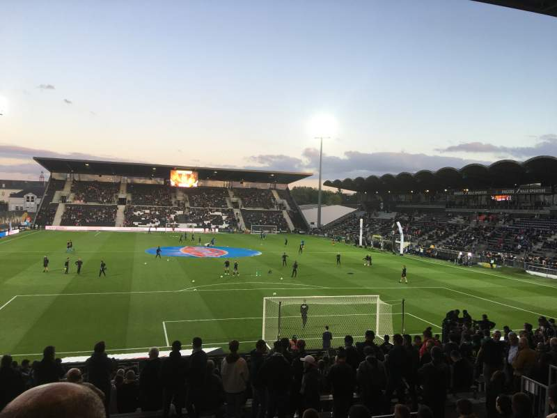 Seating view for Stade Raymond Kopa Section Coubertin E Row U Seat 124