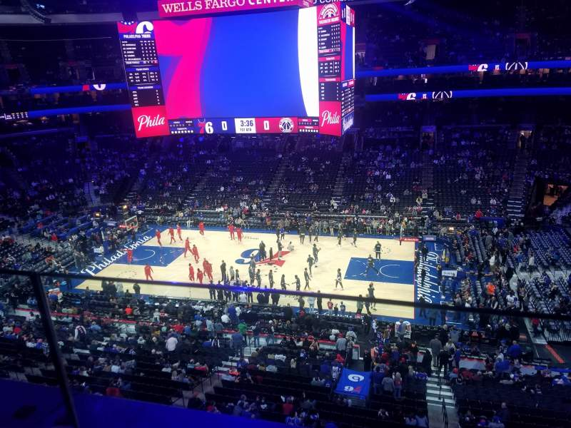Seating view for Wells Fargo Center Section 202 Row 1 Seat 19