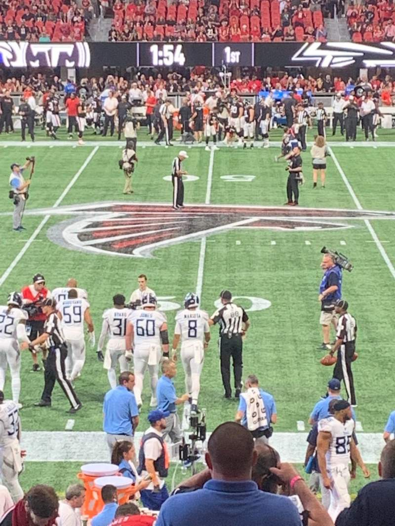 Seating view for Mercedes-Benz Stadium Section C128 Row 14 Seat 10