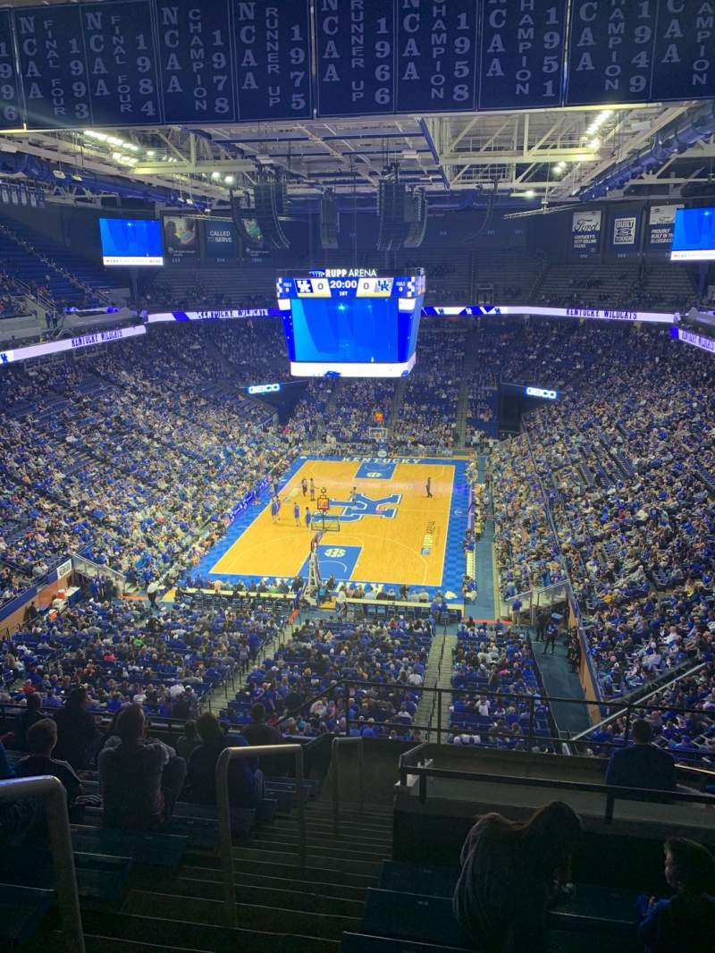 Seating view for Rupp Arena Section 221 Row O