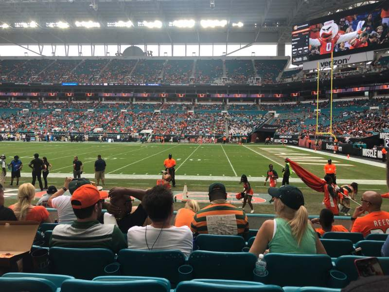 Seating view for Hard Rock Stadium Section 143 Row 6 Seat 13