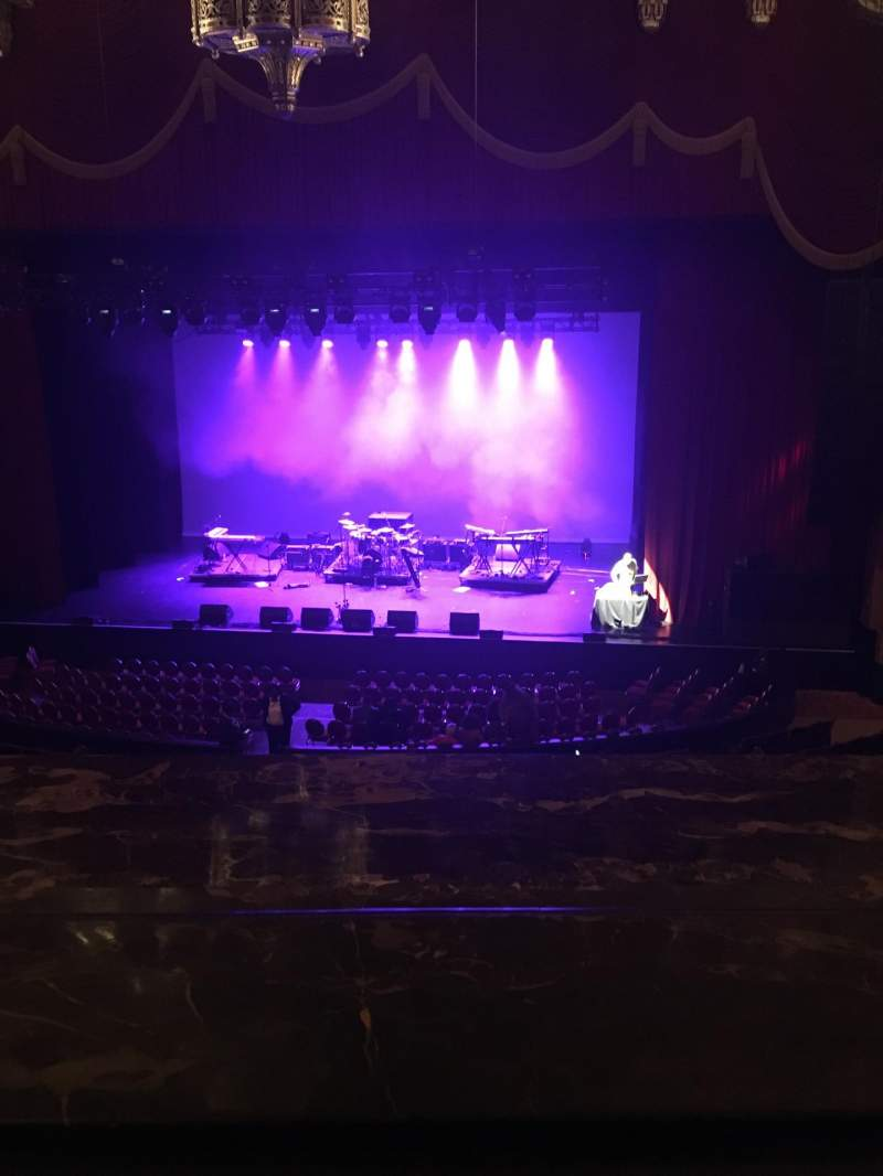 Seating view for Fox Theatre (Detroit) Section Mezzanine Row AA Seat 502