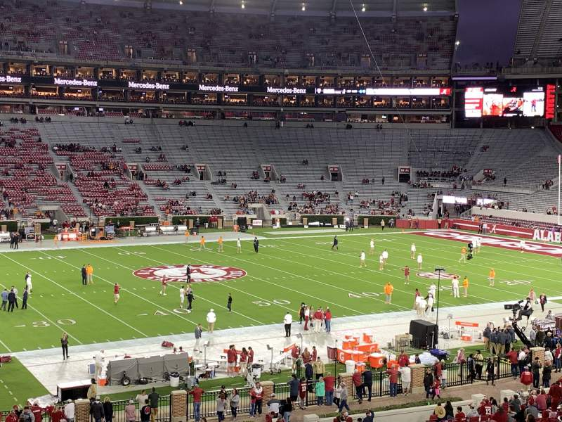 Seating view for Bryant-Denny Stadium Section K Row 49 Seat 1