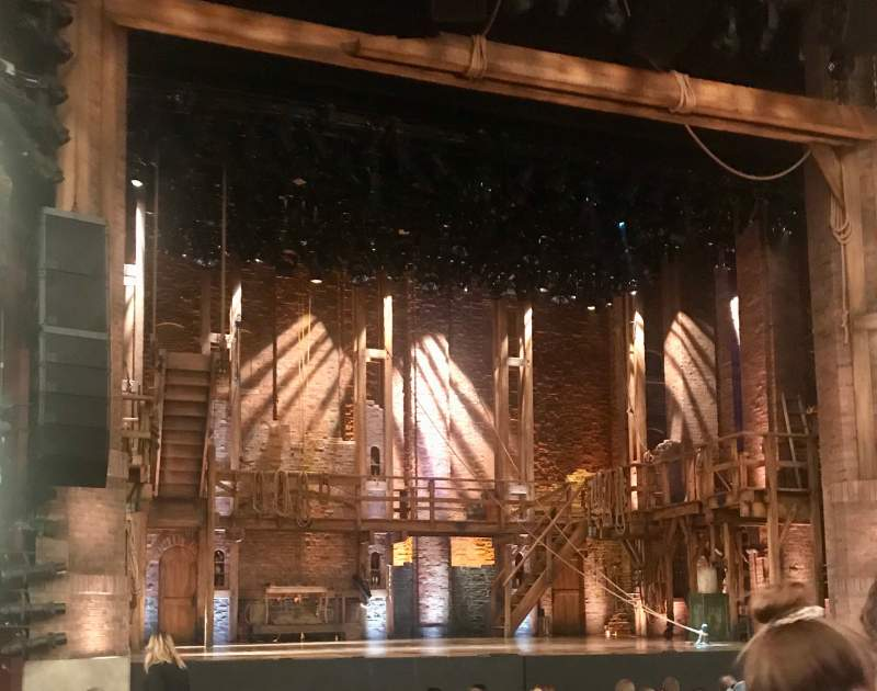 Seating view for CIBC Theatre Section Orchestra L Row P Seat 3