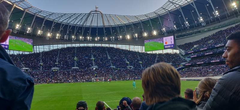 Seating view for Tottenham Hotspur Stadium Section 113 Row 11 Seat 393