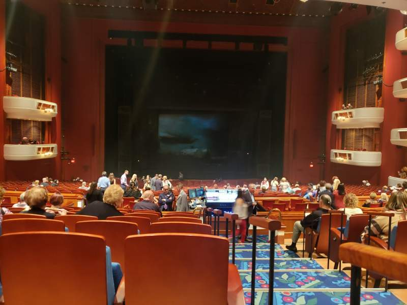 Seating view for Au-Rene Theatre at the Broward Center Section Orchestra C Row JJ Seat 101