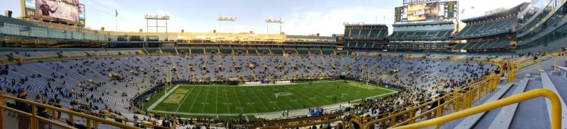 Seating view for Lambeau Field Section 320 Row 3 Seat 2