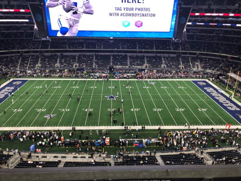 Seating view for AT&T Stadium Section 443 Row 1 Seat 15
