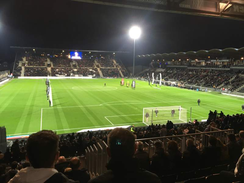 Seating view for Stade Raymond Kopa Section Coubertin E Row AA Seat 137