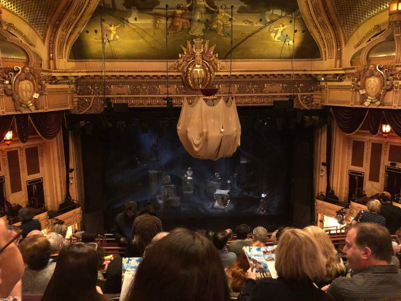 Seating view for Hippodrome Theatre Section Center Middle Balcony Row K Seat 308