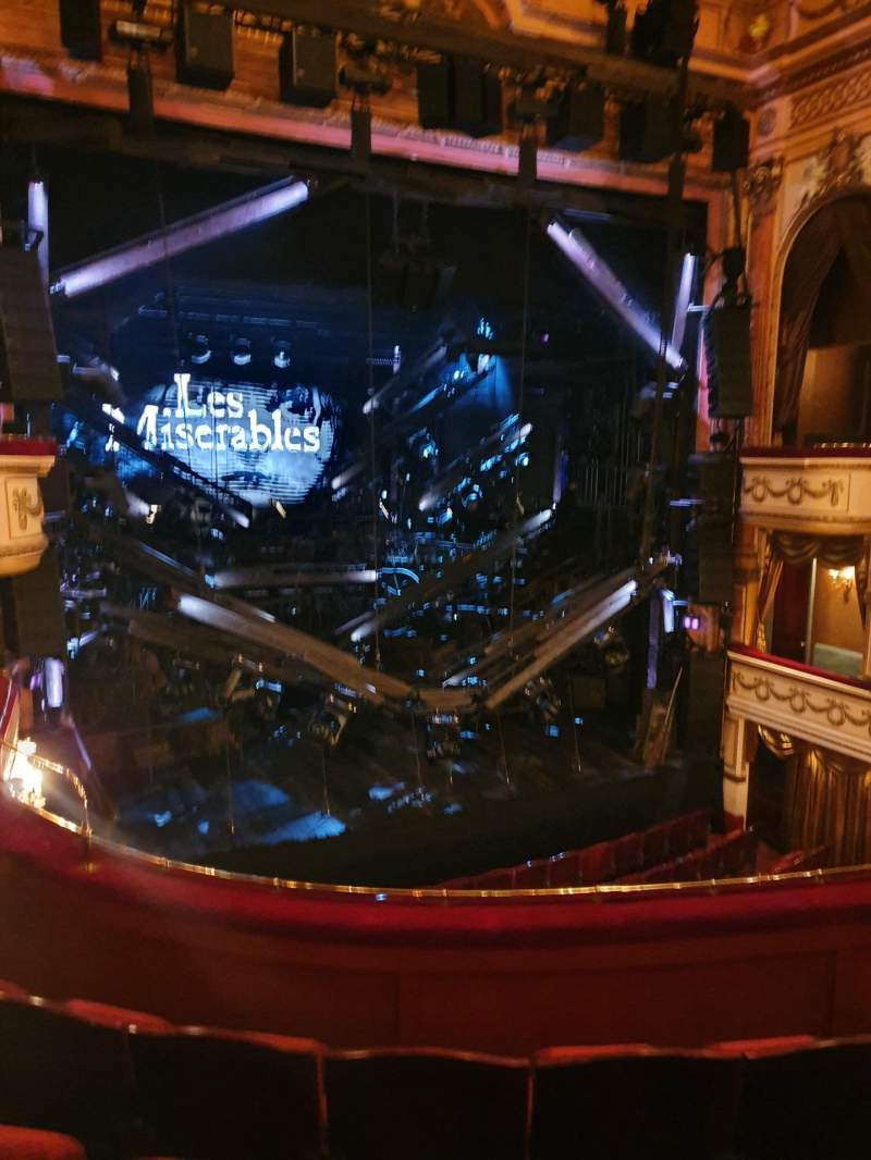Seating view for Gielgud Theatre Section Dress circle Row D Seat 28