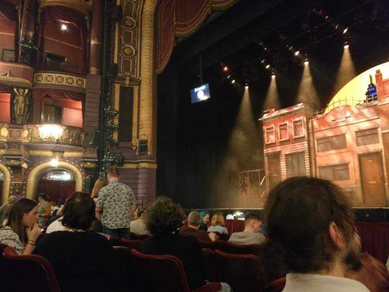 Seating view for Palace Theatre (Manchester) Section Stalls  Row D Seat 14