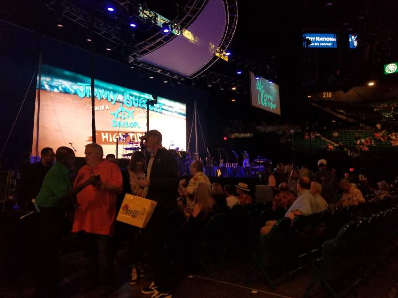 Seating view for MGM Grand Garden Arena Section Floor 19 Row BB Seat 1
