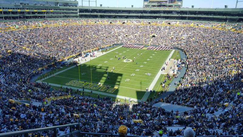 Seating view for Lambeau Field Section 643S Row 6 Seat 16