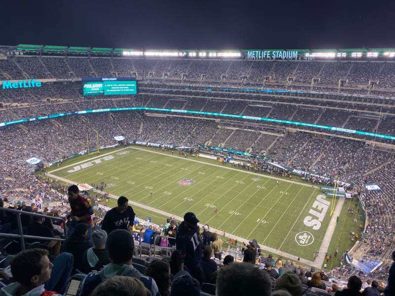 Seating view for MetLife Stadium Section 334 Row 25 Seat 22
