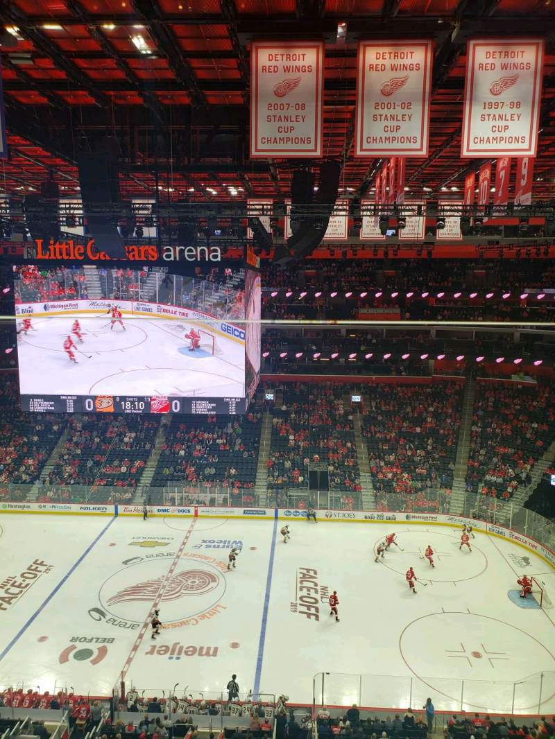 Seating view for Little Caesars Arena Section 226 Row 1 Seat 1