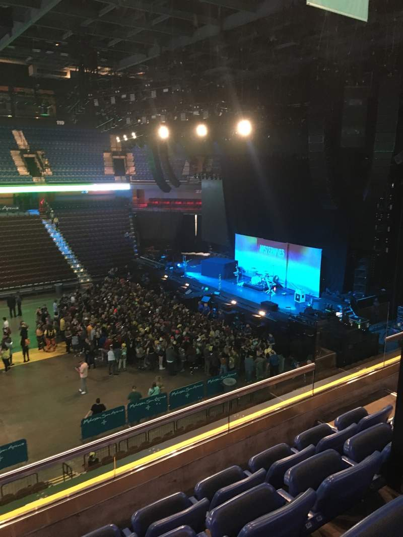Seating view for Mohegan Sun Arena Section 107 Row D Seat 6