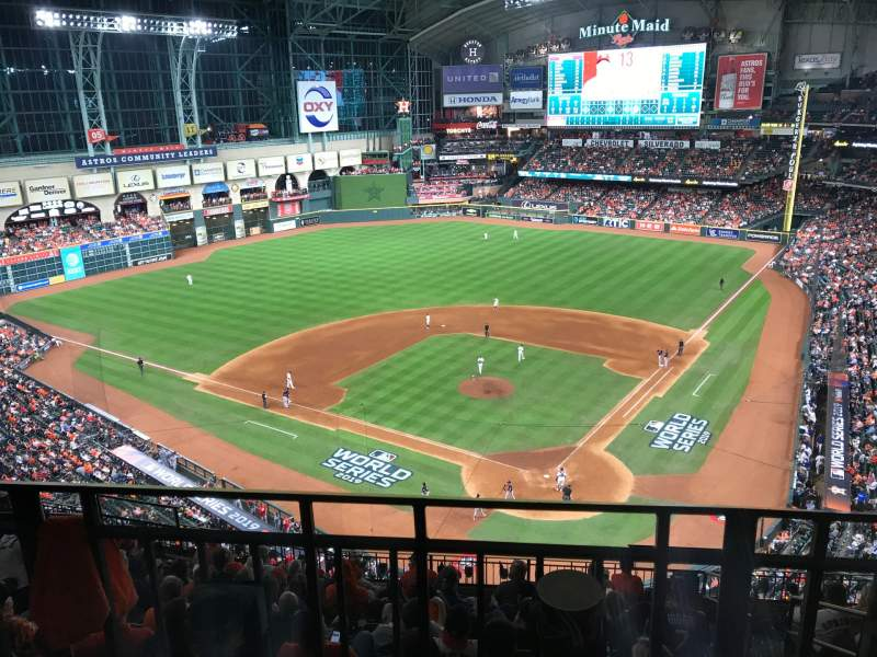 Seating view for Minute Maid Park Section 417 Row 2 Seat 16