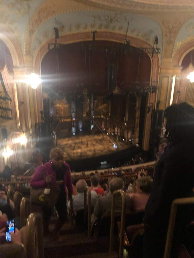 Seating view for Forrest Theatre Section Rear Mezzanine A Row H Seat 1