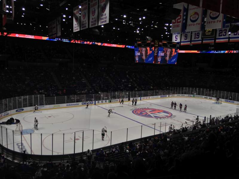 Seating view for Nassau Veterans Memorial Coliseum Section 209 Row 2 Seat 3