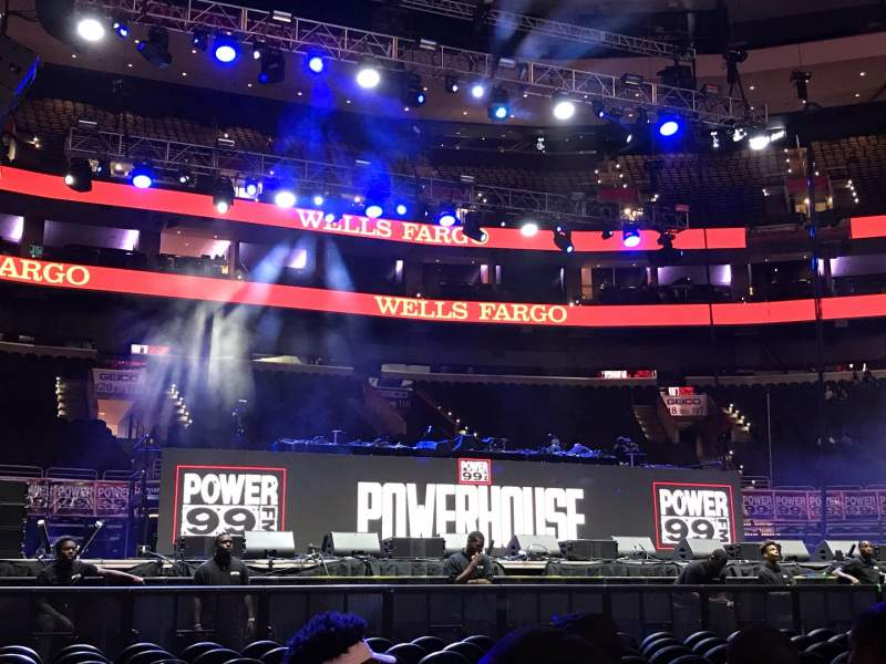 Seating view for Wells Fargo Center Section Floor Row 12 Seat 7
